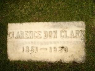 Clark grave marker - Masonic Cemetery (Evanston, Wyoming); photo credit: Steven Tynan