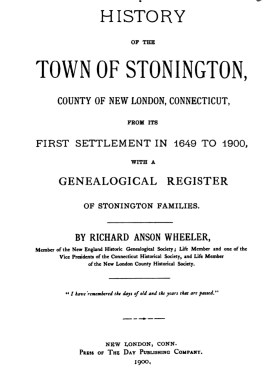 History of the town of Stonington_title  page