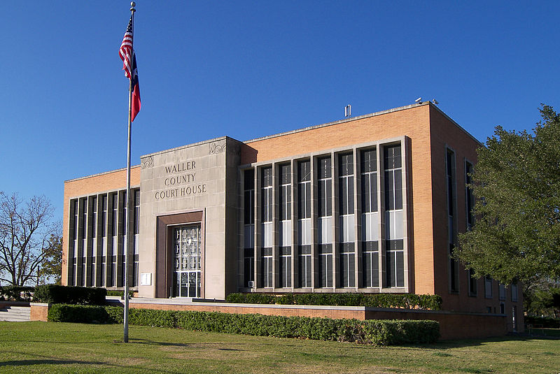 The Waller County Courthouse in Hempstead, Texas