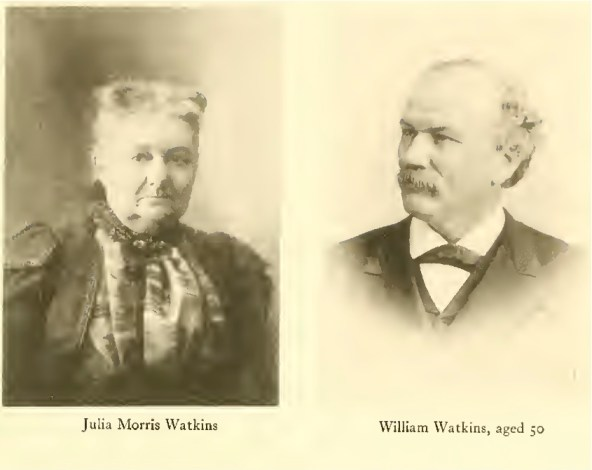 William and Julia Watkins, about 1886