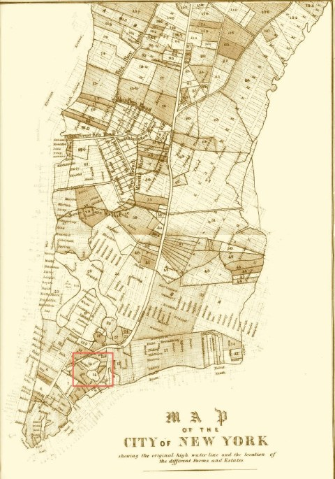 """by Geo. Hayward, 120 Water Street, New York for D. T. Valentine's """"History of New York"""" – Entered according to Act of Congress in the year 1852 by D. T. Valentine in the Clerk's Office of the District Court of the Southern District of New York."""