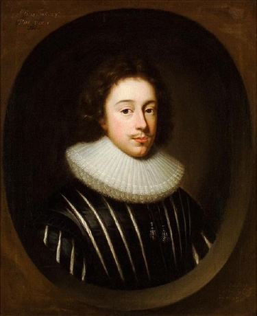 This portrait is a copy of an original portrait of the seventeenth century English poet Edmund Waller (1606-1687) an identification which is confirmed by inscriptions on the canvas. The original by Cornelius Janssen van Ceulen (1593-1661), also known as Cornelius Johnson, was painted in 1629.