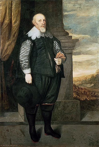 Sir Arthur Ingram (c. 1565-1642) was an English investor, landowner and politician who sat in the House of Commons at various times between 1610-1642. (artist: George Geldorp)