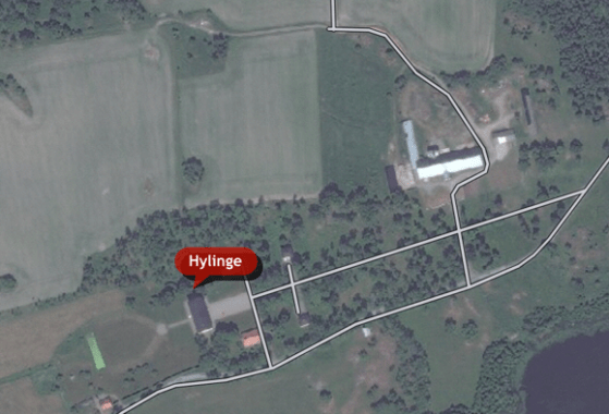 Hylinge - Aerial view (closer - click to enlarge