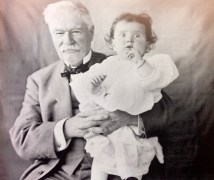 J.R. Watkins with his granddaughter, Mary Eleanor King