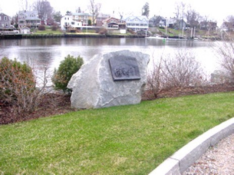 Peck Lane marker - Plaque crafted by Chris Kane (photo credit: Gaspee Days Committee)