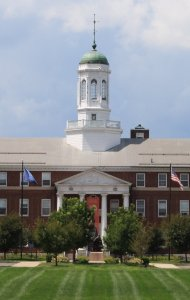 The Gallaudet Building dominates the campus of the American School for the Deaf in Hartford, Connecticut. Alice was the first pupil enrolled.