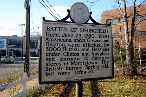 Historical marker - Springfield, New Jersey