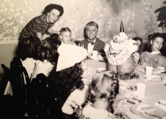 Penny Walholm, 8th birthday party, Winnetka, Illinois,1947