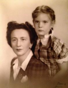 Florence Walholm and Penelope Jane, photo taken 1946