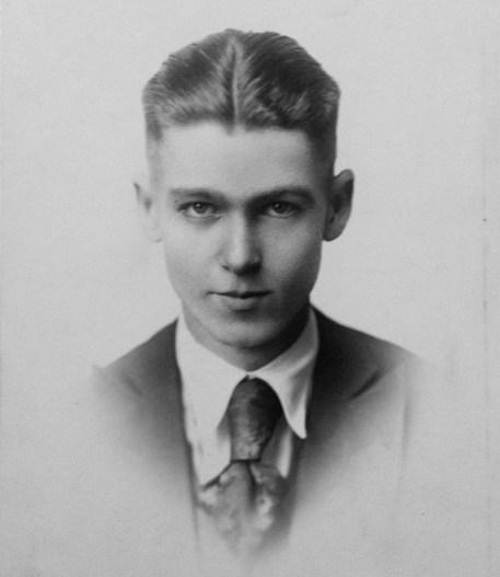 Roy W. Walholm, my grandfather - probably high school graduation