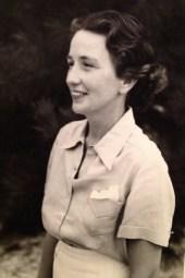 Florence Walholm, probably 1938-39 (Whitney Beach, Florida)