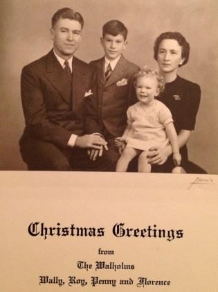 Walholm Christmas Card - 1941 (photo taken 23 Nov 1941)