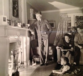 Christmas 1945: Wally, Penny, Florence, Rusty (Winnetka, Illinois)