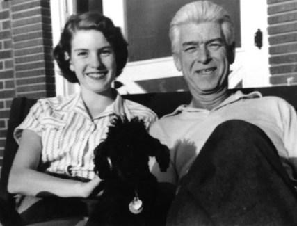 Penny Walholm, on her 15th birthday with Dad (Colorado Springs, Colorado - 1954)