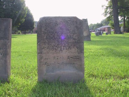 Hannah (Haines) Spinning was born 4 Dec 1752 in Elizabethtown, New Jersey and died at Lebanon, Ohio 17 Jan 1837. She is buried beside her husband in the Pioneer Cemetery in Lebanon.