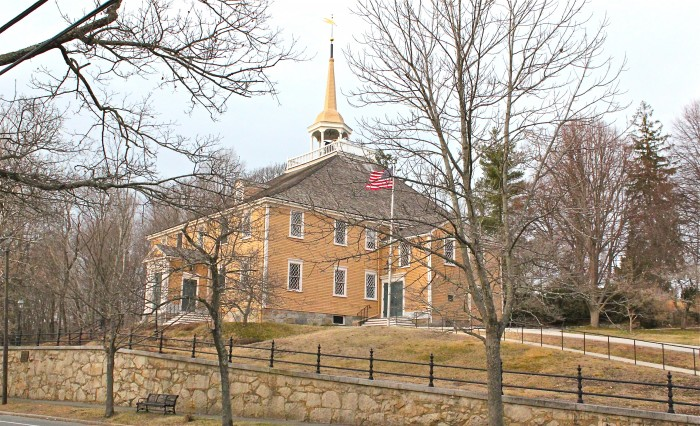 Old Ship Church, 1681 - the view in early spring (photo credit: Susan Branch)