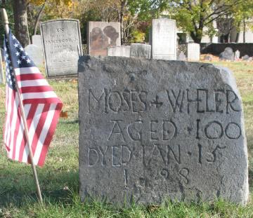 Moses Wheeler, husband of Miriam Hawley (Old Congregational Burying Ground, Stratford, Connecticut)