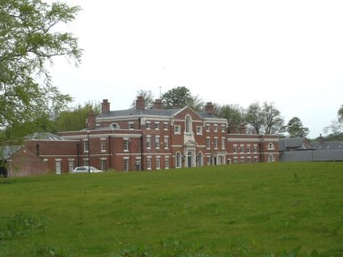 Lawton Hall, entrance front (Cheshire, England)