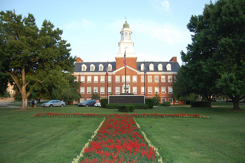 Haupt Humanities Building and front lawn on the Lexington, Kentucky, campus of Transylvania University, founded 1780