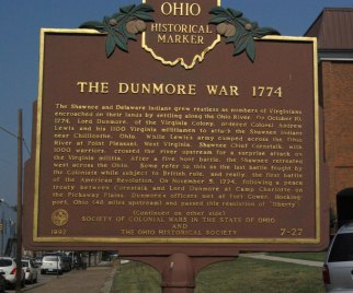 Lord Dunmore's War plaque in Gallipolis, Ohio