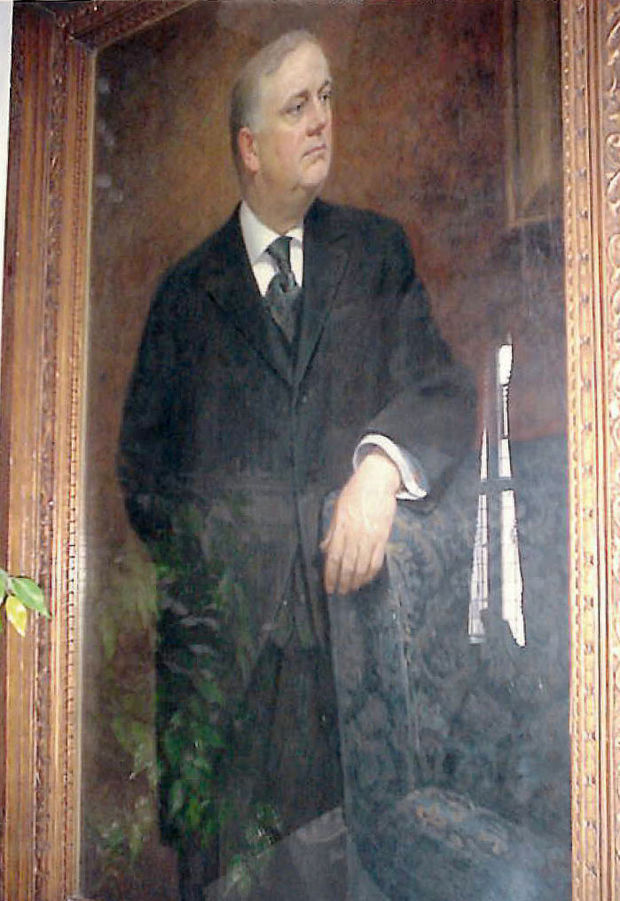 This portrait of Paul Watkins (1864-1931) was painted in 1920 by Carl Bohner, a well-known Minnesota painter and printmaker in the first half of the 20th century, who completed portraits of state luminaries including Charles Lindbergh, as well as the portraits of several Minnesota governors that hang in the state Capitol. The portrait was stolen from Watkins Manor on 11-12 Sep 2014.