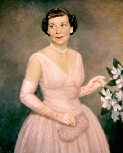 Portrait of Mamie Geneva Doud Eisenhower by Thomas Stephens, 1959.