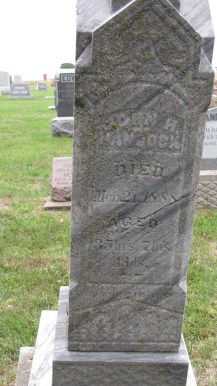 John H. Hancock (1852-1888), my 2nd g-grand uncle - photo credit: Tombstone Tracker