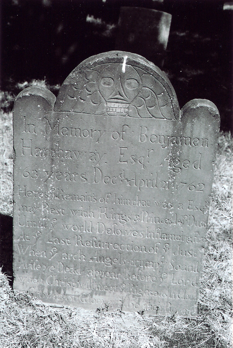 Grave marker of Benjamin Hathaway (1699-1762) - First Presbyterian Churchyard, Morristown, New Jersey