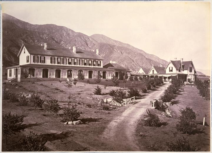 Sierra Madre Villa Hotel ca. 1886 - by Carleton E. Watkins (Courtesy of the California History Room,                                  California State Library, Sacramento, California)