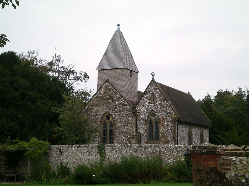 Streat parish church, Streat, East Sussex, England (photo credit: Charlesdrakew, 2009)