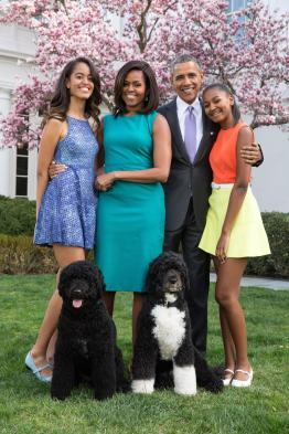 Obama family portrait - Easter, 5 Apr 2015