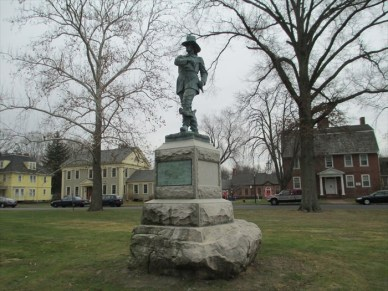 John Mason statue was relocated to Windsor, Connecticut in 1996.