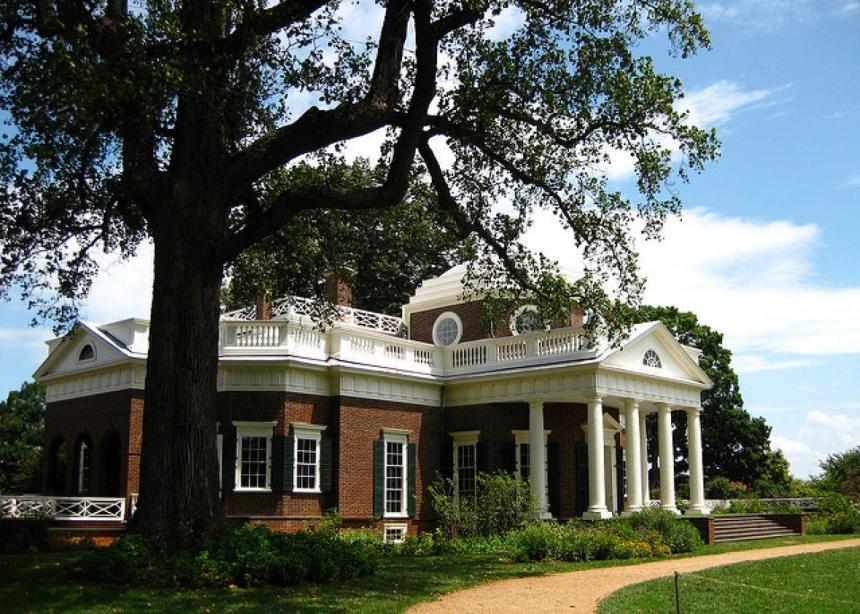 Monticello - Thomas Jefferson's home in Charlottesville, Virginia