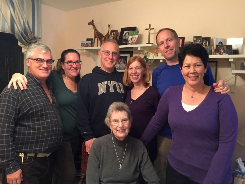 L ---> R: Tom Shook, Amy Hylbom Shook, Tor Hylbom, Penny Hylbom, Mary Hylbom, Matt Hylbom, Sherry Austerfield Berglund (photo taken 28 Nov 2015, Parkville, Maryland; credit: Gabbie Salomon)