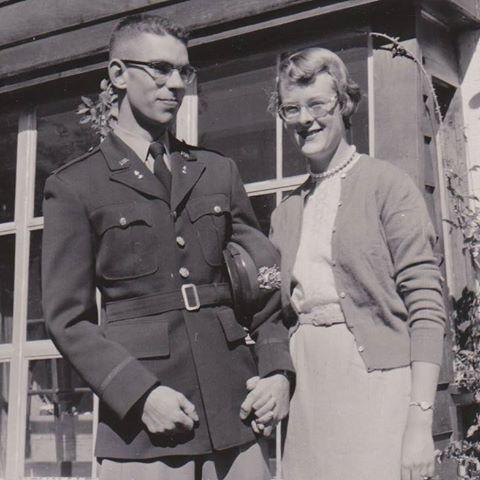 "Walter ""Skip"" L. Hetfield (1934-1977) and Ingrid (Hylbom) Hetfield (1934-2015), circa 1956."