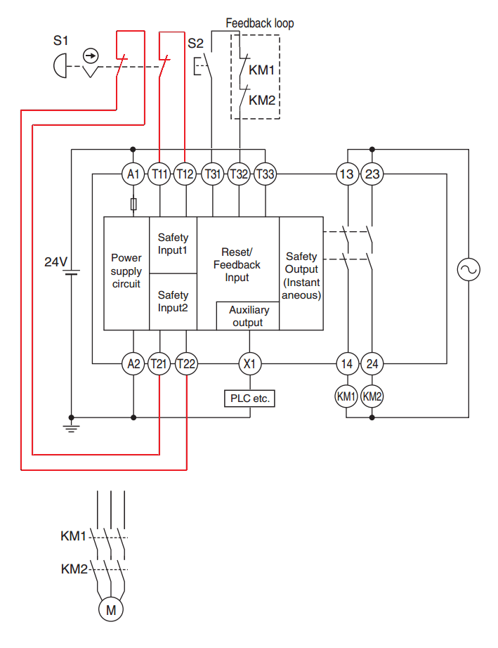 Superb Pilz Safety Relay Wiring Diagram Basic Electronics Wiring Diagram Wiring Cloud Oideiuggs Outletorg