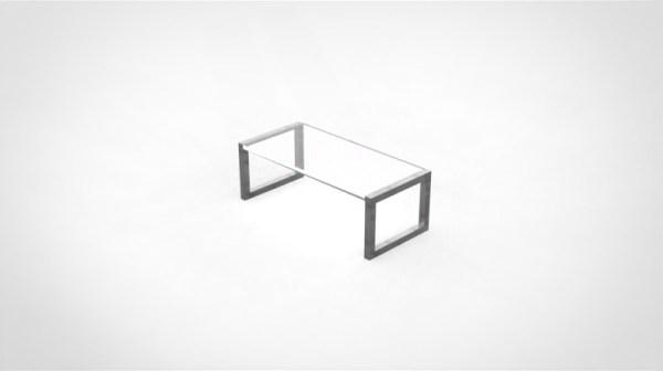 table industrielle acier