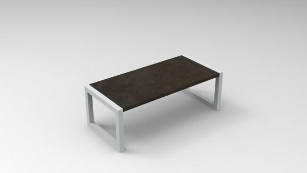 table industrielle carré
