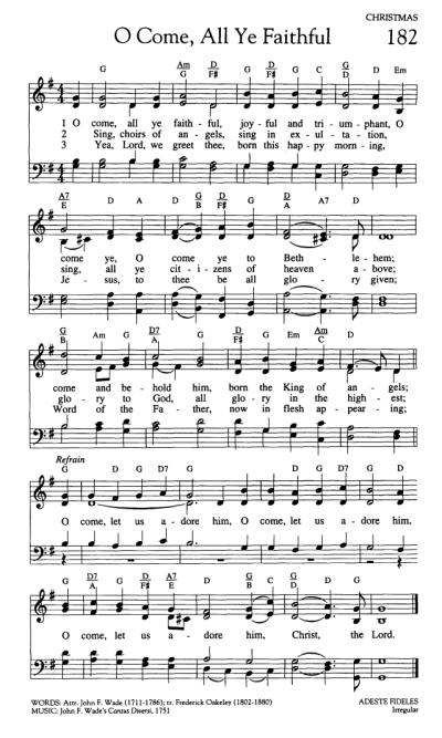 Worship and Rejoice 182. O come, all ye faithful - Hymnary.org