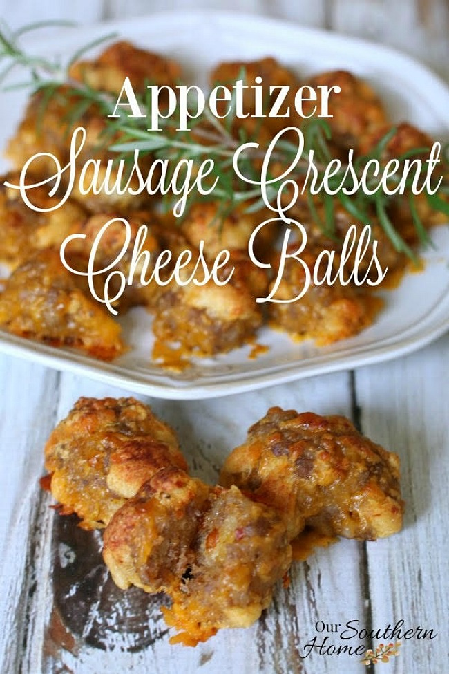 Sausage Crescent Cheese Balls Appetizer - Our Southern Home