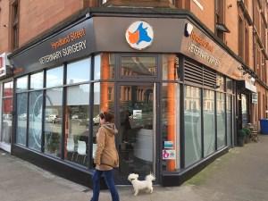 hyndland street vet shop front