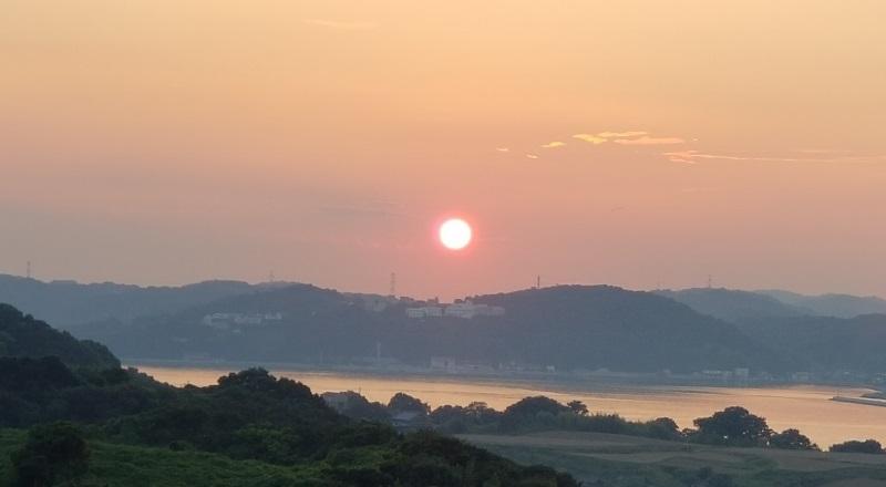 20180829_前島の夕日