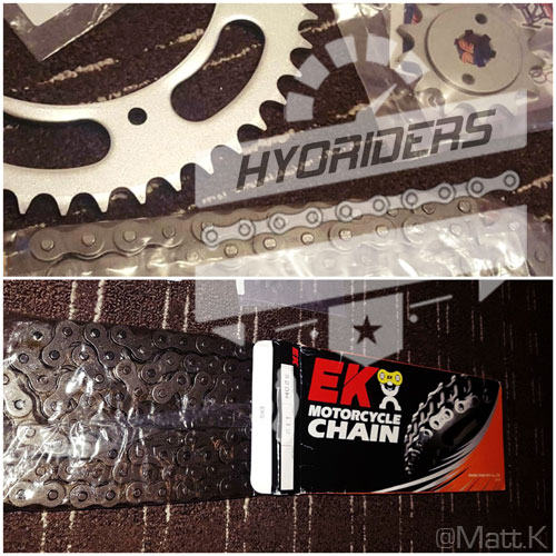 Hyosung gt125r gt250r Chain & Sprocket Kit gt125