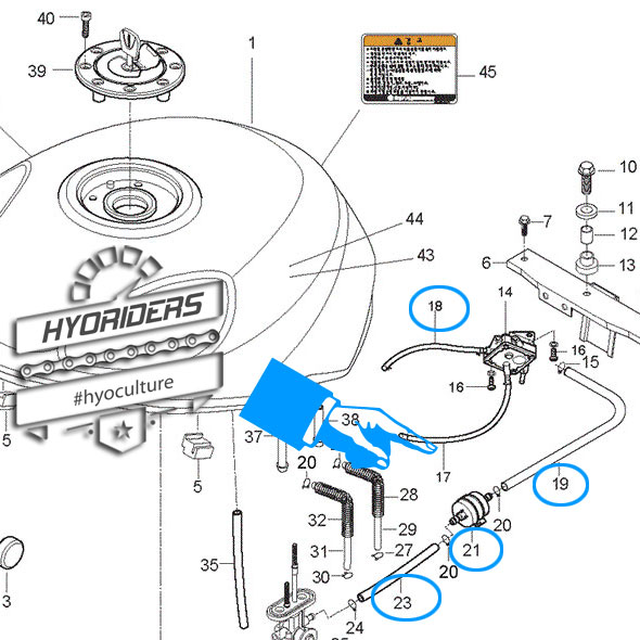 uprated \u0026 braided fuel line big filter kit hyosung gt125 \u0026 250 {carby models} Hyosung 250 Fuel Line Diagram vacuum and fuel line routing