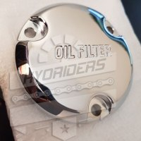Genuine Engine Oil Filter Cover Cap Chrome Hyosung GV125 GV250 GT125R Gt250