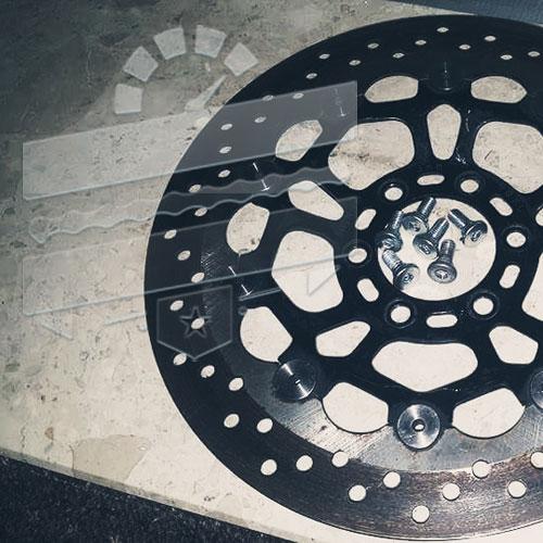 BZP Steel Brake Disc Rotor Bolts - Hyosung GT125R GT650 GV250 RX125 GT250 TE450