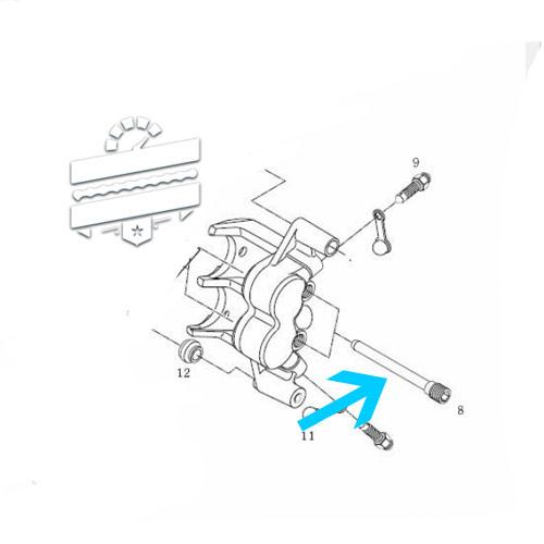 Stainless Steel Brake Caliper Pin x2 (Pad Retaining Bolt Axle) :: Hyosung GV | GT | GTR [Various Models]