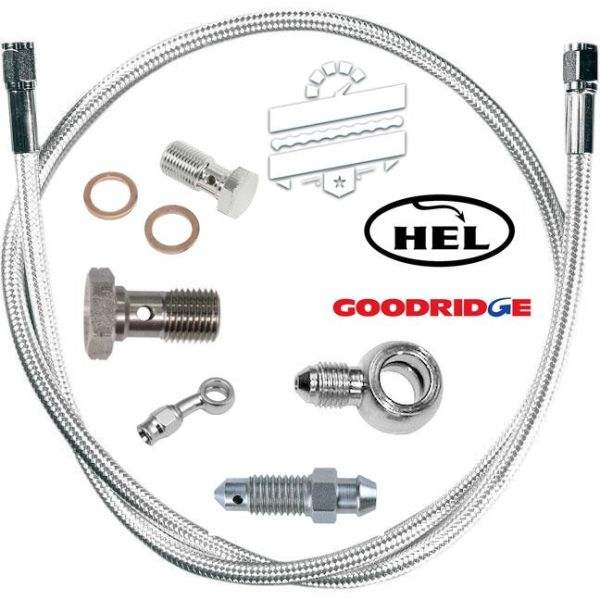 Stainless Steel Front Brake Hose (Line Kit) :: Hyosung  GT125R (GTR Only)