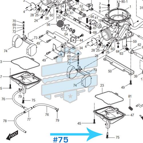 Carburettor Float Bowl Drain Screw Bolt :: Hyosung GT125R GV250 GT250R GV125 GT125